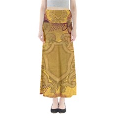 Vintage Scrapbook Old Ancient Retro Pattern Maxi Skirts
