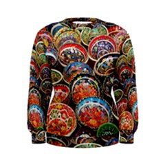 Art Background Bowl Ceramic Color Women s Sweatshirt by Simbadda