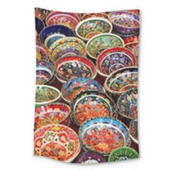 Art Background Bowl Ceramic Color Large Tapestry by Simbadda