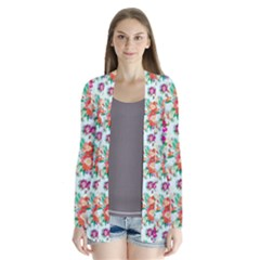 Floral Flower Pattern Seamless Cardigans