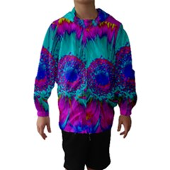 Retro Colorful Decoration Texture Hooded Wind Breaker (kids) by Simbadda