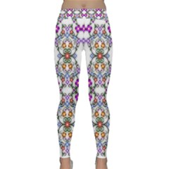 Floral Ornament Baby Girl Design Classic Yoga Leggings by Simbadda
