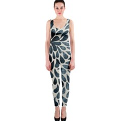 Abstract Flower Petals Floral Onepiece Catsuit