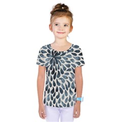 Abstract Flower Petals Floral Kids  One Piece Tee