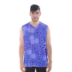 Retro Flower Pattern Design Batik Men s Basketball Tank Top