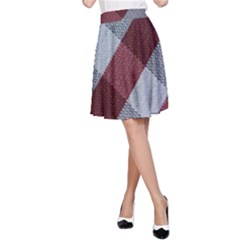 Textile Geometric Retro Pattern A Line Skirt