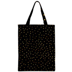 Grunge Retro Pattern Black Triangles Zipper Classic Tote Bag by Simbadda