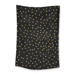 Grunge Retro Pattern Black Triangles Small Tapestry