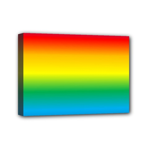 Rainbow Background Colourful Mini Canvas 7  X 5  by Simbadda