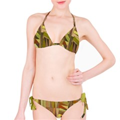 Earth Tones Geometric Shapes Unique Bikini Set by Simbadda