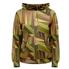Earth Tones Geometric Shapes Unique Women s Pullover Hoodie by Simbadda