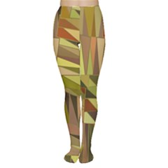 Earth Tones Geometric Shapes Unique Women s Tights by Simbadda