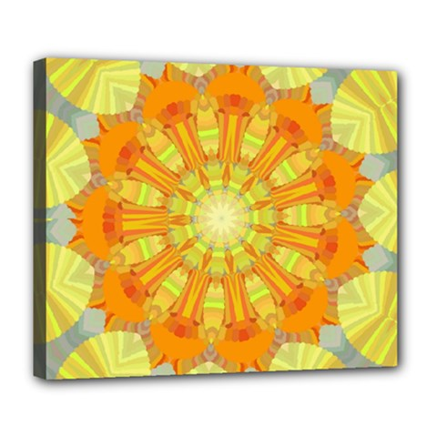 Sunshine Sunny Sun Abstract Yellow Deluxe Canvas 24  X 20