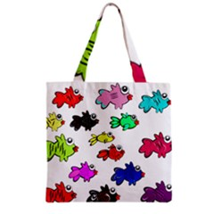 Fishes Marine Life Swimming Water Grocery Tote Bag