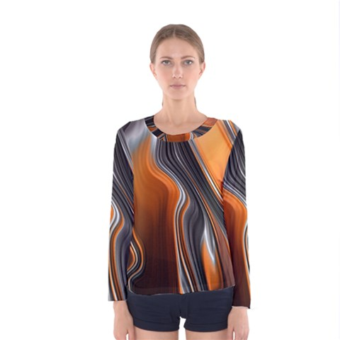Fractal Structure Mathematics Women s Long Sleeve Tee by Simbadda