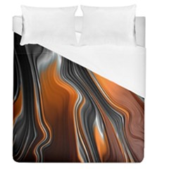 Fractal Structure Mathematics Duvet Cover (queen Size) by Simbadda