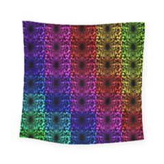 Rainbow Grid Form Abstract Square Tapestry (small) by Simbadda