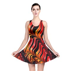 Fractal Mathematics Abstract Reversible Skater Dress