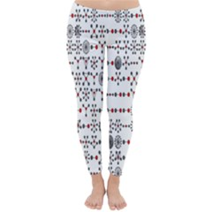Bioplex Random Kimia Circle Grey Red Classic Winter Leggings