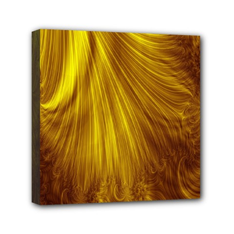 Flower Gold Hair Mini Canvas 6  X 6
