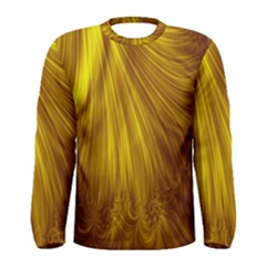 Flower Gold Hair Men s Long Sleeve Tee