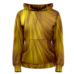 Flower Gold Hair Women s Pullover Hoodie