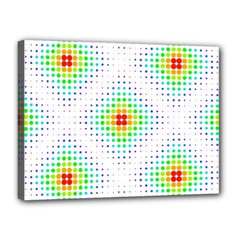 Color Square Canvas 16  X 12  by Simbadda