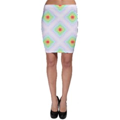 Color Square Bodycon Skirt