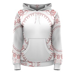 Floral Frame Pink Red Star Leaf Flower Women s Pullover Hoodie