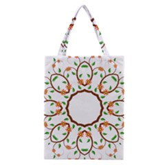 Frame Floral Tree Flower Leaf Star Circle Classic Tote Bag by Alisyart