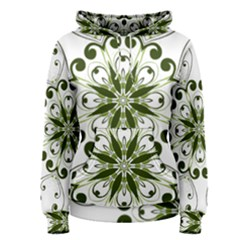 Frame Flourish Flower Green Star Women s Pullover Hoodie