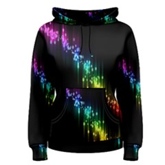 Illustrations Black Colorful Line Purple Yellow Pink Women s Pullover Hoodie