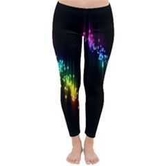 Illustrations Black Colorful Line Purple Yellow Pink Classic Winter Leggings