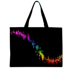 Illustrations Black Colorful Line Purple Yellow Pink Zipper Mini Tote Bag