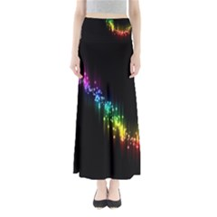 Illustrations Black Colorful Line Purple Yellow Pink Maxi Skirts