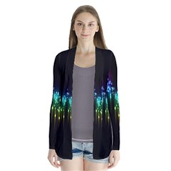 Illustrations Black Colorful Line Purple Yellow Pink Cardigans