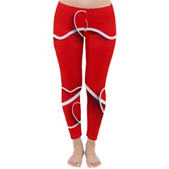Heart Love Valentines Day Red Classic Winter Leggings