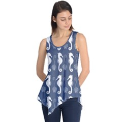 Seahorse And Shell Pattern Sleeveless Tunic by Simbadda