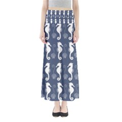 Seahorse And Shell Pattern Maxi Skirts