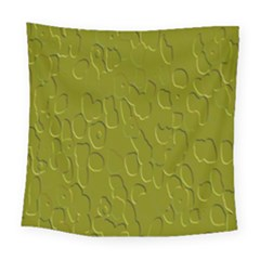 Olive Bubble Wallpaper Background Square Tapestry (large)