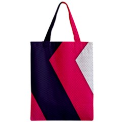 Pink Pattern Zipper Classic Tote Bag by Simbadda