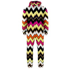 Colorful Chevron Pattern Stripes Pattern Hooded Jumpsuit (men)