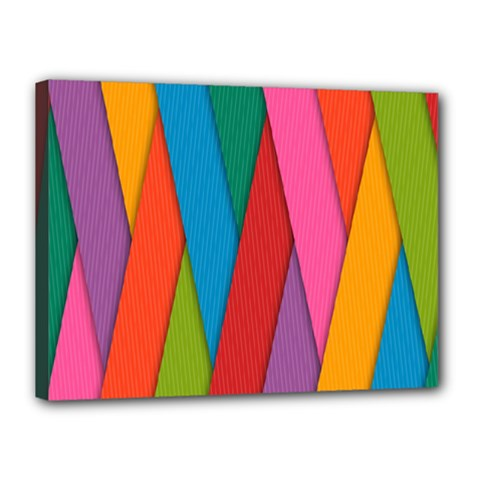 Colorful Lines Pattern Canvas 16  x 12