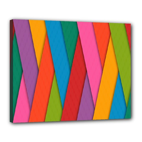 Colorful Lines Pattern Canvas 20  x 16