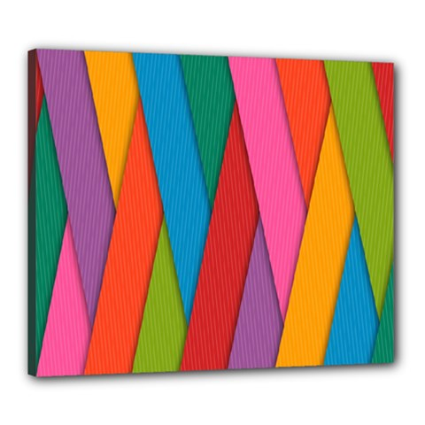 Colorful Lines Pattern Canvas 24  x 20