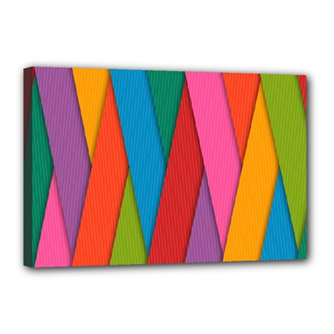 Colorful Lines Pattern Canvas 18  x 12