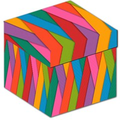 Colorful Lines Pattern Storage Stool 12