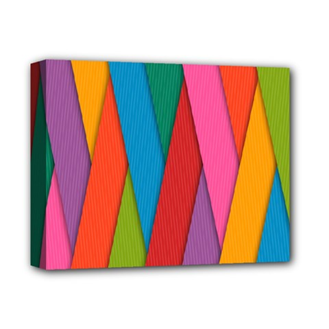 Colorful Lines Pattern Deluxe Canvas 14  x 11