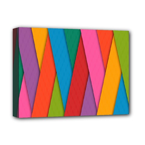 Colorful Lines Pattern Deluxe Canvas 16  x 12