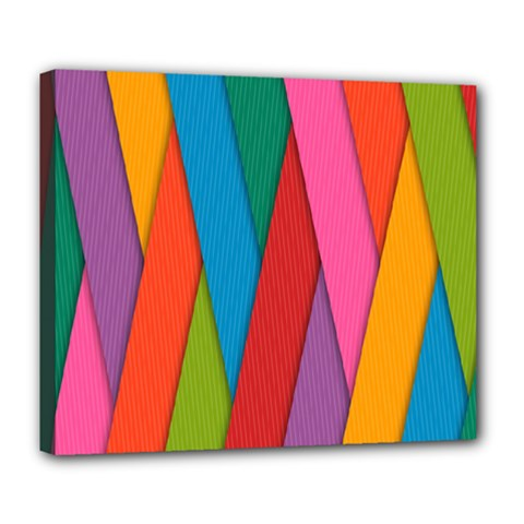 Colorful Lines Pattern Deluxe Canvas 24  x 20